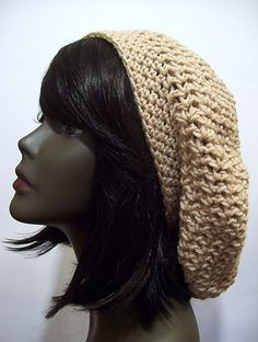 Easy slouchy beret pattern by Donna Rutledge-Okoro -- one of my favorite patterns for a slouchy beret.