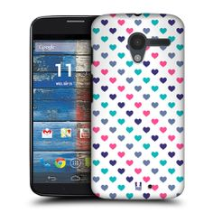 Head Case Pink Turquoise Multicoloured Hearts Pattern Case for Motorola Moto X | eBay