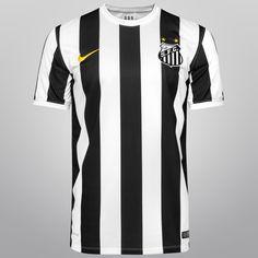 Camisa Nike Santos II 14/15 s/nº - Preto+Branco