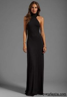 Elegantes y modernos vestidos largos de fiesta con escote en la espalda - 15