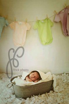Laundry Day :) Washy Washy! Newborn photo ideas #newbornphotography #frickphoto #laundryday