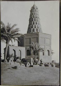 This famous mausoleum was constructed by the Abbasid caliph al-Nasir for his mother, Sitta Zubaydah, the wife of Harun ar-Rashid. Located in an expansive cemetery, this brick tomb exhibits a nine-layered, cone-shaped muqarnas cover capped by a small cupola that rises to great height from an octagonal base, similar to the Imam Dur in Samarra. Hazarbaf.