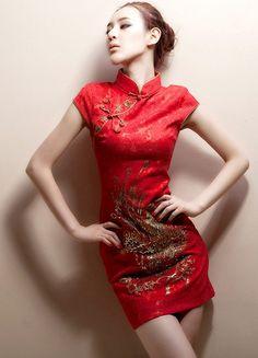Short Chinese Qipao - Cheongsam Wedding Dress
