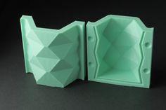 Tall Hexagonal Vase Mold Reusable Mold Sizes S-L by BoldPrints