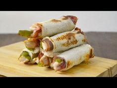 Estos serrranitos enrollados son una idea diferente de preparar el tradicional Serranito tan típico de Andalucía. ¡No os los perdáis! Canapes, Fresh Rolls, Tapas, Sushi, Buffet, Sandwiches, Recipies, Yummy Food, Yummy Yummy