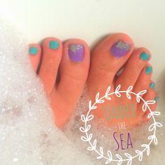 Ariel Little Mermaid Nails