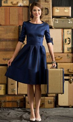 Winter Wonderland | Nutcracker Royal Blue  Shabby Apple $92.00.  There isn't anything I don't love about this dress.