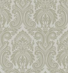 Apollo Modern Damask Wallpaper in Taupe by Brewster Home Fashions