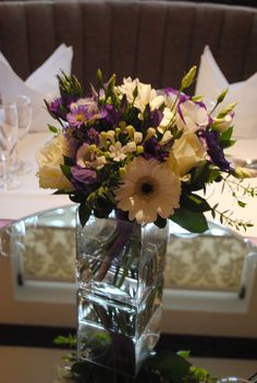 gerbera and lisianthus centrepiece - Google Search