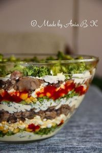 Salad Dishes, Cooking Recipes, Healthy Recipes, Snacks Für Party, Broccoli Salad, Food Design, Food Pictures, Salad Recipes, Clean Eating