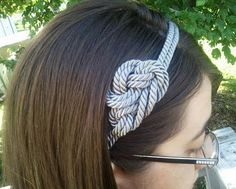 DIY Not-so-nautical rope headband  Supplies-  2 yards of craft cording- any size you like is fine   Headband- make sure it's wide enough for two strands of the cording to cover.  Glue gun