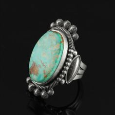 Wright's Indian Art: Royston Turquoise Ring by Stanley Parker