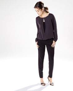 Flowy blouse with jewelled neck RW&CO. Winter 2014