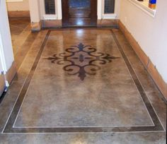stained concrete floor.  Thinking of doing this