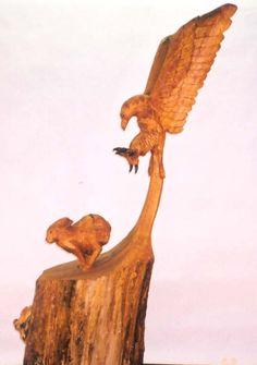 eagle chasing rabbit