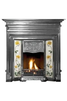 The Gallery Edwardian Cast Iron Fireplace consists of the Edwardian full polished cast iron combination fireplace with cast back. There are extensive hearth and tile options available alongside a gas fire or solid fuel kit for real fires. Cast Iron Fireplace, Stove Fireplace, Electric Fireplace, Cottage Fireplace, Modern Fireplace, Fireplace Ideas, Fireplace Insert Installation, Fireplace Inserts, Edwardian Fireplace