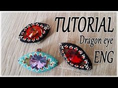 Sara Spoltore, an Italian beadwork designer has an awesome beaded dragon eye pendant tutorial . You could also call it an evil eye pendant . Beaded Necklace Patterns, Seed Bead Patterns, Beading Patterns, Bracelet Patterns, Crochet Necklace, Jewelry Making Tutorials, Beading Tutorials, Bead Crochet Rope, Tutorials