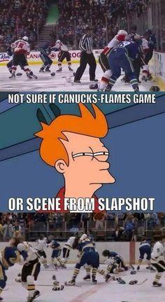 Fry memes are the best #Hockey #Flames #Canucks #Humor #Slapshot