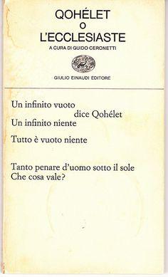 Qohelet - Translation by Guido Ceronetti by Iliazd, via Flickr