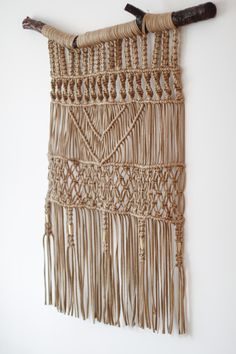 Macrame Wall Hanging with Drift Wood