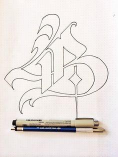 Cool outline for monogram Gothic Lettering, Chicano Lettering, Graffiti Lettering Fonts, Graffiti Alphabet, Creative Lettering, Lettering Design, Hand Lettering, Graffiti Drawing, Graffiti Art