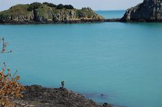 Deep blues in Brittany, France