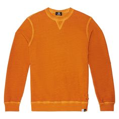 Italian Crafted Dye Long-Sleeve Crew Pumpkin Dyed pumpkin dyed
