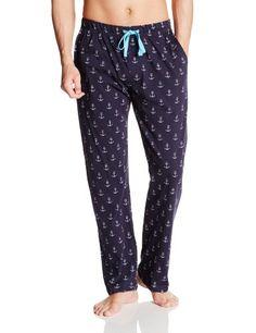 "Stafford Men/'s Knit Pajama Lounge Sleep Pants Navy Neat Size Large 36-38/"""