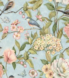 Susan Winget Quilting Fabric - Longwood Floral.  I just got this fabric to make a blanket out of.