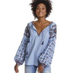 folktale blouse SKY