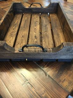 Rustic Coffee Table Tray by DogWoodRusticDesigns on Etsy