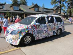 sisters-quilt-car, at the Sisters Oregon quilt show