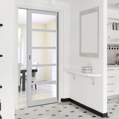 All pocket cassettes may be kerbside delivery only and not in to the home. doors are delivered separately. All doors can slide open left or right, you decide when installing them, delivery will be from two separate suppliers. Grey Interior Doors, Grey Doors, Pocket Door Frame, Pocket Doors, Internal Sliding Doors, Sliding Door Hardware, Dark Grey Kitchen, Flush Doors, Architrave
