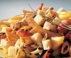 This is the Havarti and Grilled Vegetable Pasta Salad recipe. Pasta Salad Ingredients, Pasta Salad Recipes, Vegetable Pasta Salads, Food Network Canada, Grilled Vegetables, Food Network Recipes, Side Dishes, Stuffed Peppers, Find Recipe