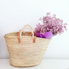 """our prettiest handmade basket  """"French market basket style"""" available in our shop http://esteiraonlineshop.tictail.com"""