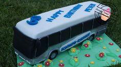 Reisebus-Torte / Motivtorte / Bus-Torte / Bus Cake Tutorial