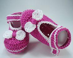 Crochet Baby shoes Baby shoes Custom baby shoes por NikitasStore