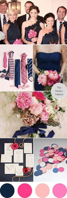 1000 images about graphic design inspiration on pinterest for Navy blue and pink wedding