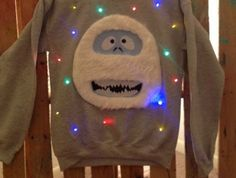 Abominable snowman ugly sweater