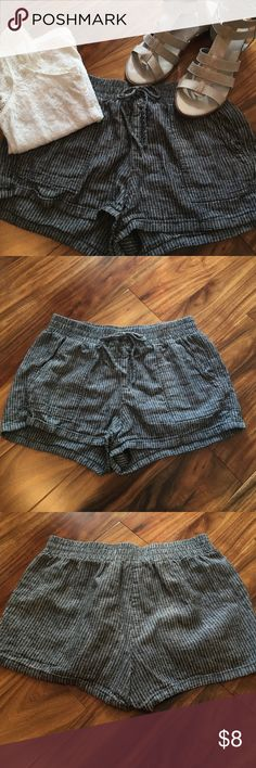 Joe B striped lounge shorts Great shorts! In good used condition. Dark grey with white pinstripes throughout. Elastic waist with drawstring. Has side pockets as well. Shorts are not lined. Joe B Shorts