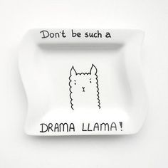 This sassy llama plate.   23 Things You Need If You Secretly Have A Thing For Llamas
