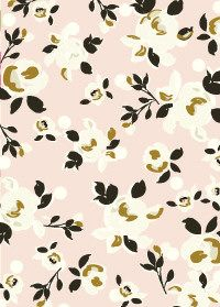 Floral pattern. Would make a soft, floral touch used in small amounts for a quilt