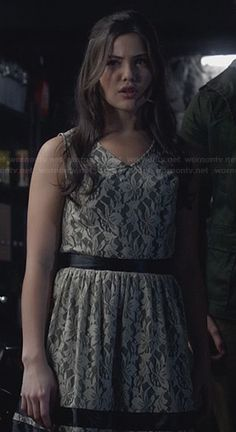 Davina's lace dress on The Originals.  Outfit Details: http://wornontv.net/23684/ #TheOriginals