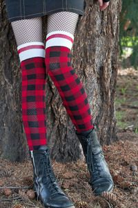 Not sure what I'd wear these with, but I love them!   Sock Dreams - Plaid Pook Knee Sock