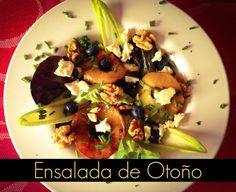 #ensalada #salad #autum #otoño #manzana #apple #fresh #food: Ingredientes, paso a paso en el #blog