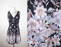1990s Babydoll Dress / Vintage 90s Dress / Soft Grunge Dress / Black Ditsy Floral Print Mini Dress / 90s Grunge Mini / Festival Dress by BlueHorizonVintage on Etsy #90s #grunge #mini #dress #rayon #festival #boho #bohemian #babydoll #ditsy #floral #1990s #fashion #style