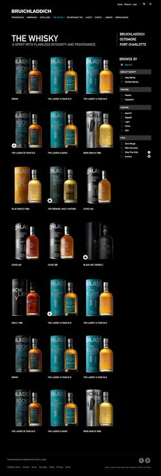 Bruichladdich website by Paul mowat, via Behance