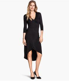 727bf99758cd H M Jersey wrap dress £14.99 Feminine Style