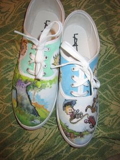 NEED. Calvin and Hobbes Shoes