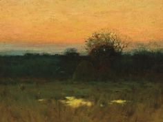 """""""Twilight,"""" Charles Warren Eaton, oil on canvas on board, 11 x 15"""", private collection."""